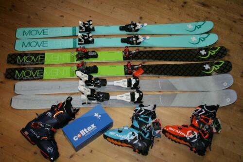 Skitourenski und Schuhe